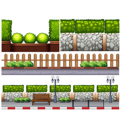 Different design for fences vector