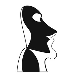 Easter island icon simple style vector