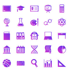 education gradient icons on white background vector image