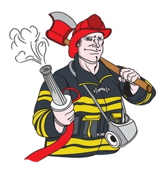 fireman1 resize vector image