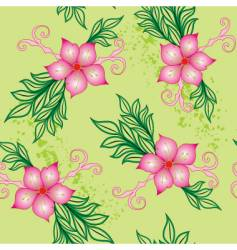 Floral seamless background vector