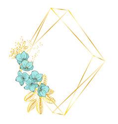 Geometric flowers wedding birthday holiday vector