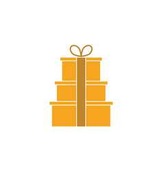 gift box graphic design template vector image