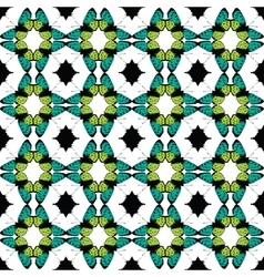 Green Black Butterfly Tribal Seamless vector
