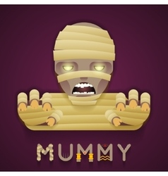 Halloween Party Mummy Role Character Bust Icon vector