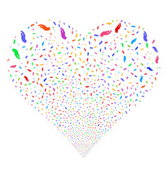 hand fireworks heart vector image