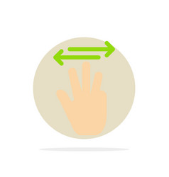 hand hand cursor up left right abstract circle vector image