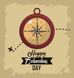 Happy columbus day card vector
