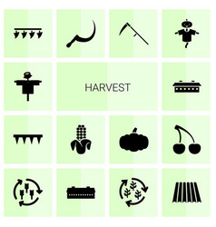 Harvest icons vector