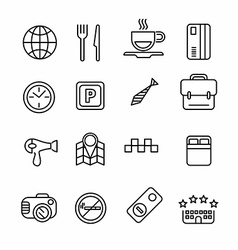 Hotel or apartments and travel icon vector