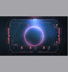 hud ui gui futuristic frame user interface vector image