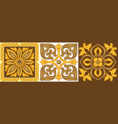 italian ceramic tile pattern ethnic folk ornament vector image