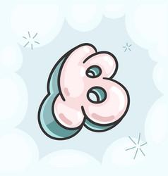 Letter b bubble vector