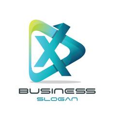 Letter x media logo vector
