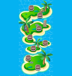 level world map for mobile games - assets - for vector image
