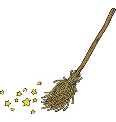 Magic broom vector