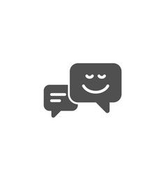message speech bubbles with smile simple icon vector image