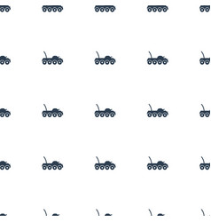Military car icon pattern seamless white vector