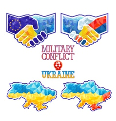 Military Conflict in Ukraine vector image