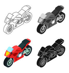 Motorcycle icon in cartoon style isolated on white vector