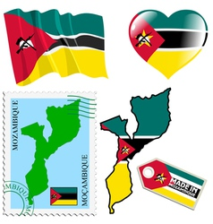 national colours of Mozambique vector image