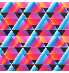 neon triangle pattern vector image