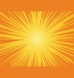 orange sun background sunrise vintage circle vector image