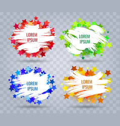 paint brush banners set vector image