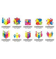 People community logo vector