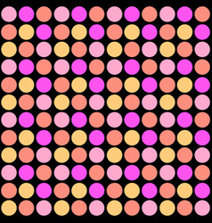 polka dots seamless patterntextile ink brush vector image