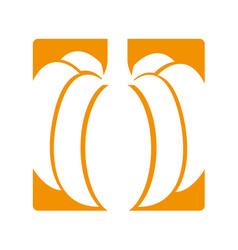 Pumpkin fresh vegetable icon vector