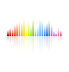 Rainbow colors musical equalizer abstract vector