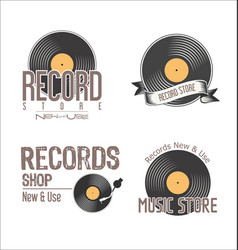Retro vinyl records background collection 2 vector