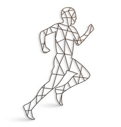 running man with lines on a white background vector image