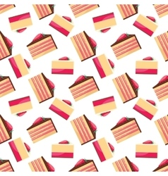 seamless background with pattern delicious vector image