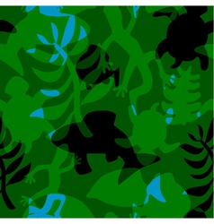 seamless pattern with stylized silhouettes vector image
