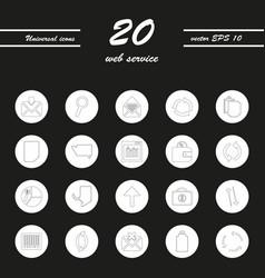 Service line icons set vector