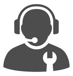 Service Operator Flat Icon vector image