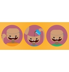 Set of funny heads vector image