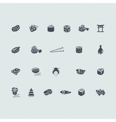 Set of sushi icons vector