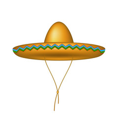 sombrero hat in brown design vector image