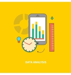 Stage of business process is data analysis vector