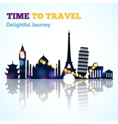 Travel Sight Silhouette vector