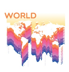 abstract world vector image vector image