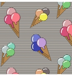 Background with ice cream and bonbons Ideal for vector image vector image
