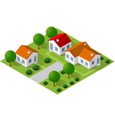 isometric 3d icon vector image