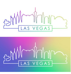 las vegas skyline vector image