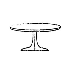 round table wooden brown furniture icon vector image