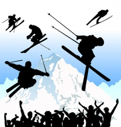 ski vector image vector image