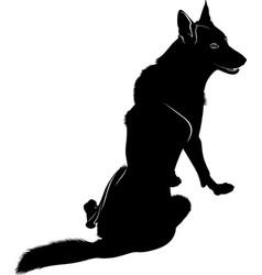 Wild wolf vector